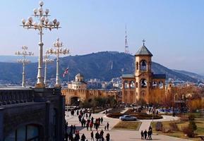 die kathedrale in tiflis, georgien foto