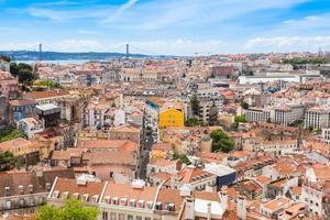 Blick auf Lissabon vom Aussichtspunkt miradouro da graca in Lissabon