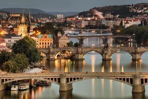Moldau und Brücken in Prag, Tschechische Republik