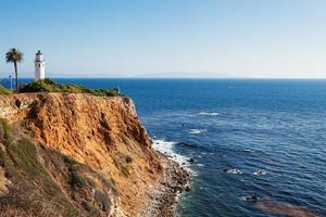 Punkt Vicente Leuchtturm. Rancho Palos Verdes, Kalifornien, USA foto