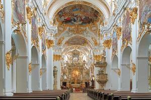 Innenraum der alten Kapelle in Regensburg, Deutschland