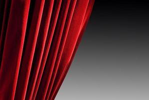 roter geschlossener Vorhang foto