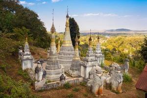 alter buddhistischer Tempel, Pindaya, Burma, Myanmar.