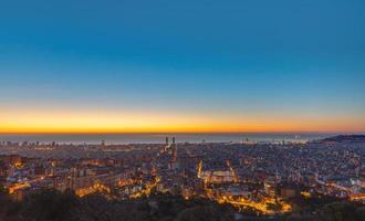 Barcelona vor Sonnenaufgang