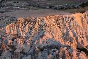 der Sonnenaufgang über Kappadokien foto