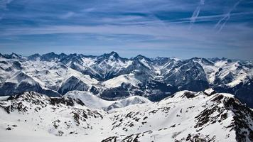 schneebedeckte Berge in Frankreich