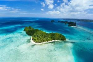 Palau Inseln von oben foto