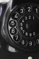antikes Telefon, Zifferblatt, Nahaufnahme foto