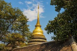 goldene Pagode im Tempel Lampang, Thailand