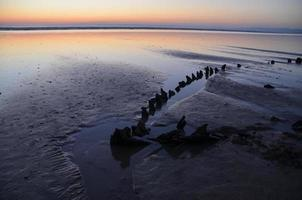 Schiffswrack in der Bretagne.