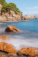 Detail der spanischen Küste