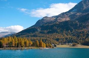 See in der Nähe von st. moritz, schweiz