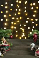 Weihnachtsdekoration mit Lichterketten foto