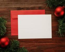 Weihnachtsgrußkartenmodell