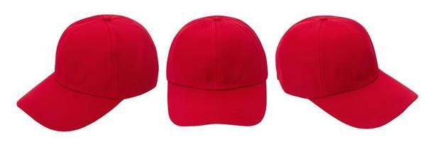 rotes Baseballmützenmodell foto
