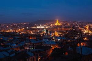 Nacht in Tiflis, Georgia foto