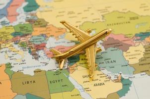 Flugzeug über dem Nahen Osten foto