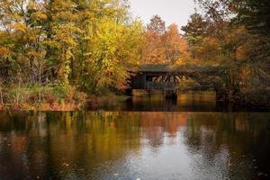 New England überdachte Brücke