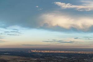 Sonnenuntergang über Denver