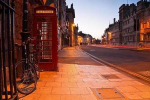 Morgenstraßen von Oxford.