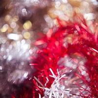 Weihnachtslichter Hintergrund Gold verschwommen foto