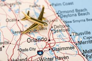 Flugzeug über Zentralflorida foto