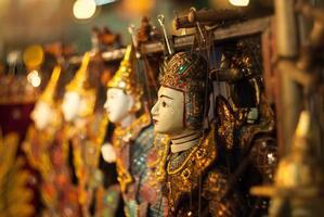 thailändische Puppen. foto