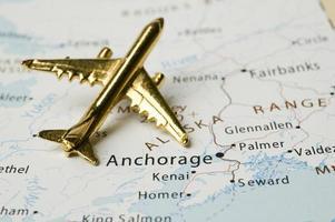 Flugzeug über Alaska foto