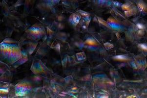 Blasen auf schwarzem Hintergrund