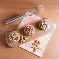 Schokoladenkuchen Brownies mit Cashewnüssen