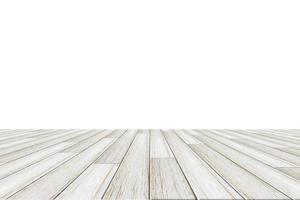 Holzboden auf weißem Hintergrund foto