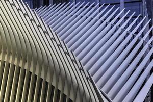 New York City, 2020 - Nahaufnahme der Metallarchitektur