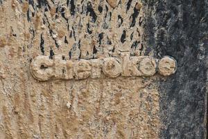 Cherokee geprägtes Holz