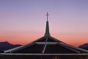 Phoenix, Arizona, 2020 - Traumstadtkirche bei Sonnenuntergang