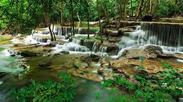 sechster Stock des Huay Mae Kamin Wasserfalls, khuean srinagarindra na foto