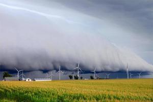 Regalwolke in Illinois foto