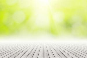 Holzboden mit Bokeh Hintergrund