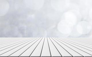 Holzboden mit Bokeh Hintergrund foto