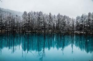 biei blauer Teich foto