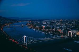 Blick auf Budapest von der Citadella foto