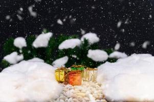 friedlicher Weihnachtshintergrund für die Adventszeit