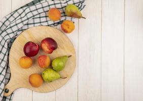 Draufsicht des Musters der Früchte foto