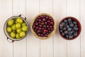 Draufsicht auf Obst
