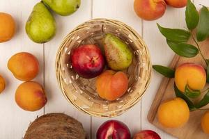 Draufsicht auf Obst foto