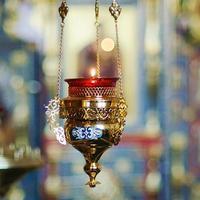 Innenraum der russisch-orthodoxen Kirche foto