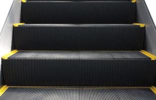 Rolltreppe in Nahaufnahme. Unten gerudert oder ausgekleidet.