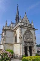 Saint-Hubert-Kapelle im königlichen Schloss in Amboise foto