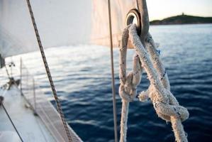 Seeknoten auf einem Segel
