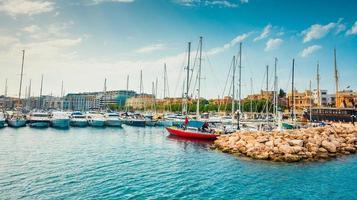 Yachten am Pier von Ta'xbiex in der Nähe von Valletta foto