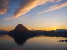 Sonnenuntergang im Park st. Michael, Lugano